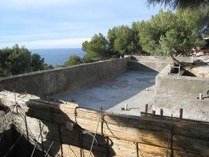 piscine enterrée beton projeté