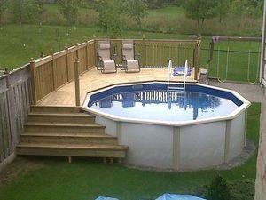piscine semi enterrée en acier